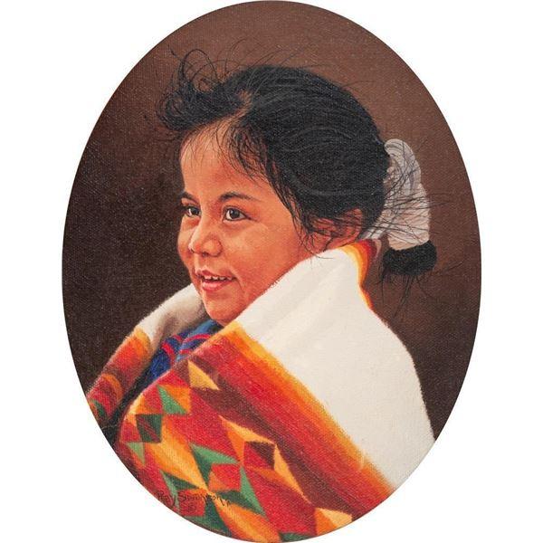 Ray Swanson, oil on canvasboard
