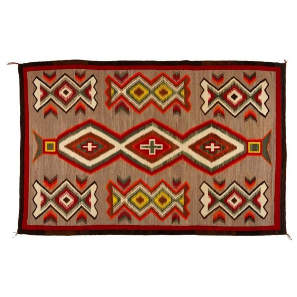 "Navajo Rug, 73"" x 49"""