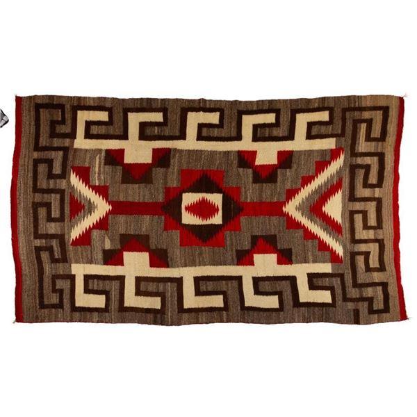 "Navajo Rug, 108"" x 64"""