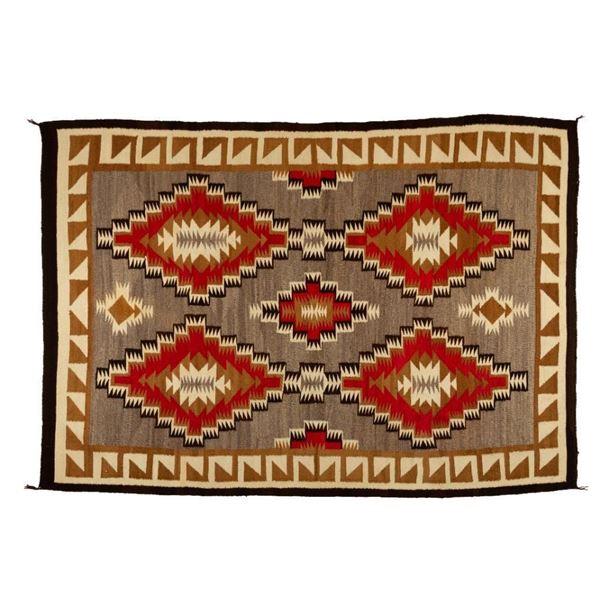 "Navajo Rug, 84"" x 59"""