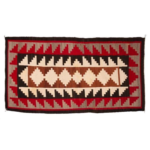 "Navajo Rug, 87"" x 46"""