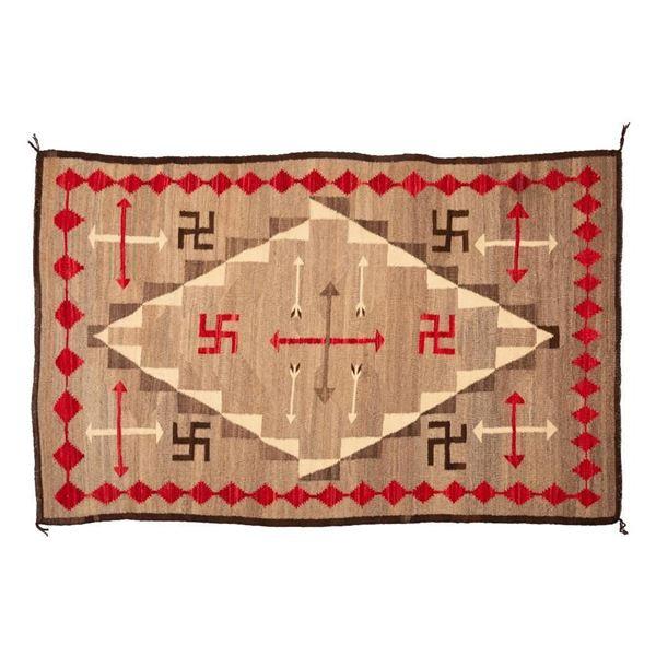"Navajo Rug, 84"" x 52"""