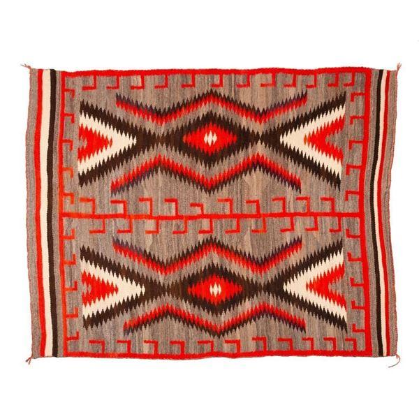 "Navajo Rug, 80"" x 63"""