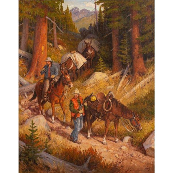 Ralph Oberg, oil on canvas