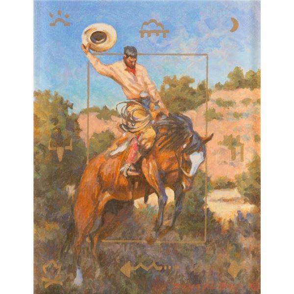 Buckeye Blake, oil on canvasboard