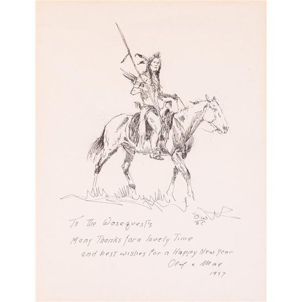 Olaf Wieghorst, pen & ink