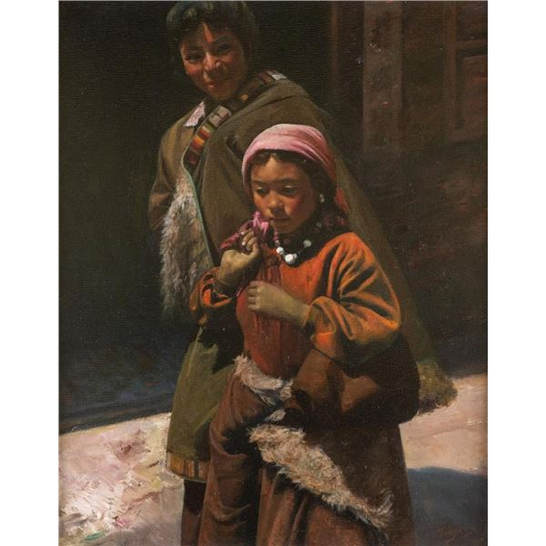 Luo Tong, oil on canvas