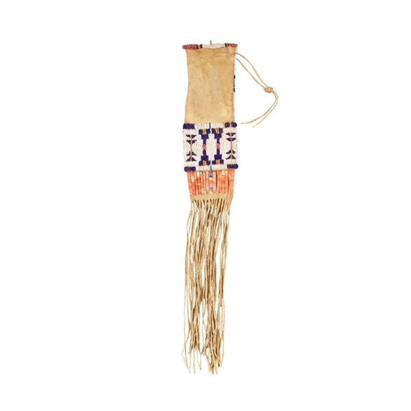 Sioux Quilled and Beaded Child's Tobacco Bag