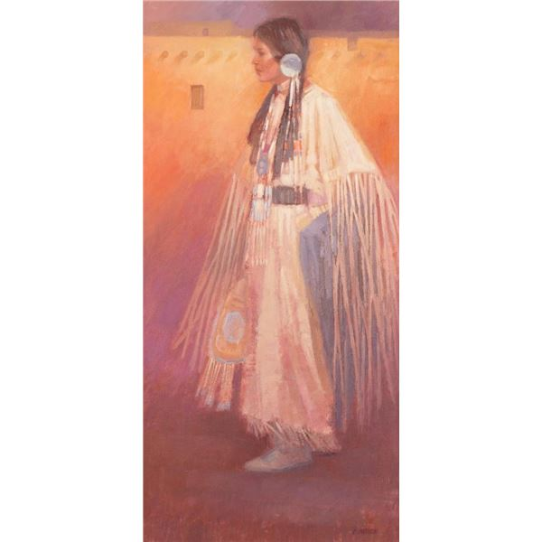 C. Sanderson, oil on canvasboard