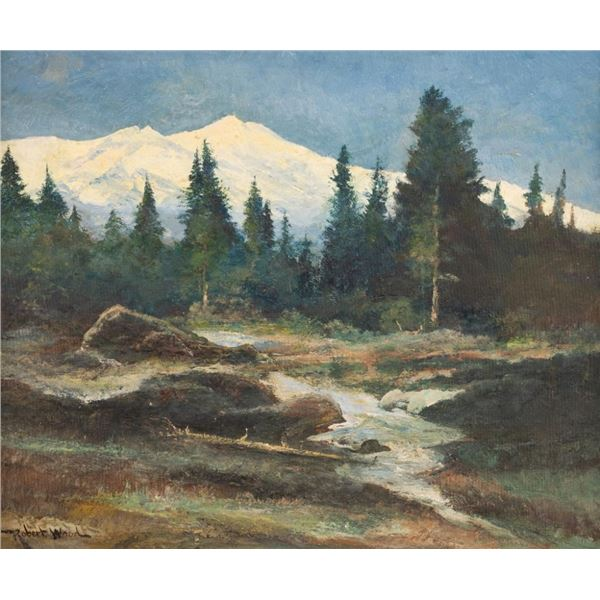 Robert Wood, oil on canvasboard