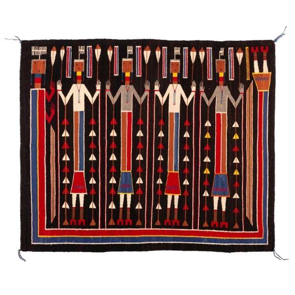 "Navajo Rug, 64"" x 54"""