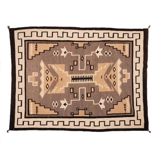 "Navajo Rug, 83"" x 63"""