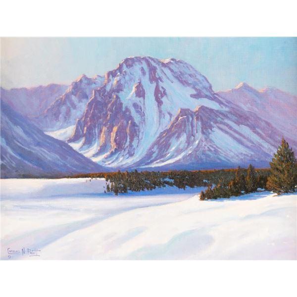 Charles Pruitt, oil on canvasboard
