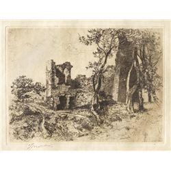 Thomas Moran, etching