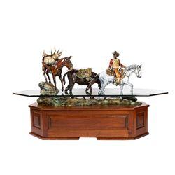 Daniel Parker, bronze coffee table