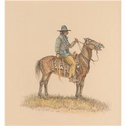 Olaf Wieghorst, watercolor