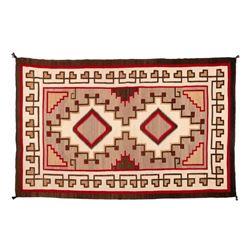 "Navajo Rug, 98"" x 63"""