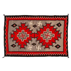 "Navajo Rug, 91"" x 60"""