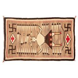 "Navajo Rug, 78"" x 47"""