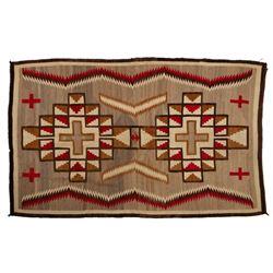 "Navajo Rug, 87"" x 55"""