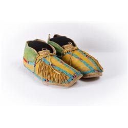 Southern Cheyenne Men's Beaded Moccasins