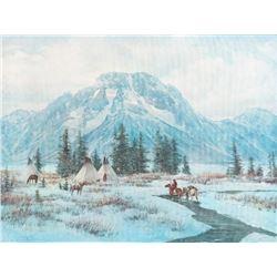 Del Parson, oil on canvas