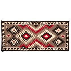 "Navajo Rug, 153"" x 68"""