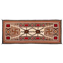 "Navajo Rug, 136"" x 56"""