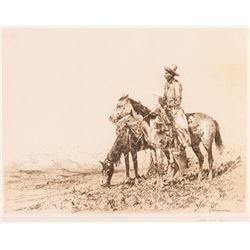 Edward Borein, three etchings