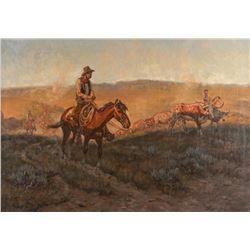 John Hampton, oil on canvas