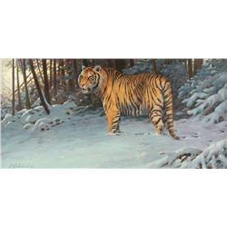 Guy Coheleach, oil on canvas