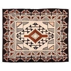 "Navajo Rug, 95"" x 77"""