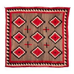 "Navajo Rug, 84"" x 82"""