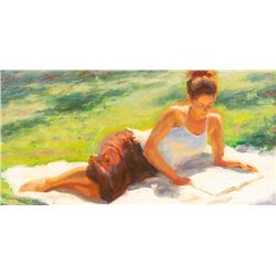 William Schneider, oil on canvasboard