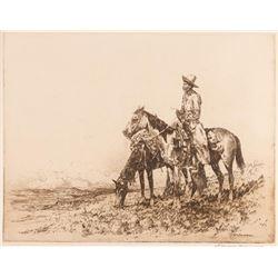 Edward Borein, etching