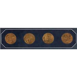 Carl Rungius, 4 medallions