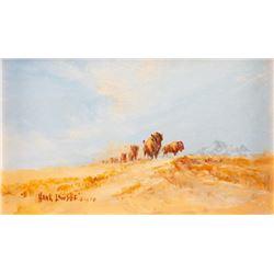 Hank Lawshe, three watercolors