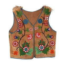 Cree Beaded Man's Vest