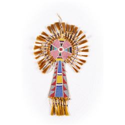 """Crow or Nez Perce Bridle Frontlet, 16"""" overall"""