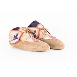 Iroquois Beaded Man's Moccasins