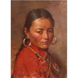 Jei Wei Zhou, oil on canvas
