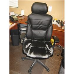BLACK HIGH BACK OFFICE CHAIR WORN