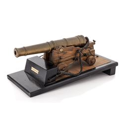 Scale Model of 18-Pound Brass Naval Cannon