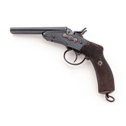 Unusual Antique Belgian SxS Rolling Block Pistol