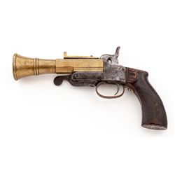Unusual Antique Pinfire Blunderbuss Pistol