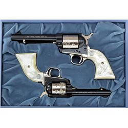 Cased 2-Gun Colt Commem. Nevada Battle Born Set