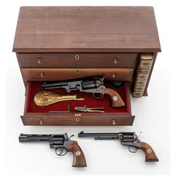 Cased Colt Three-Gun Bicentennial Set