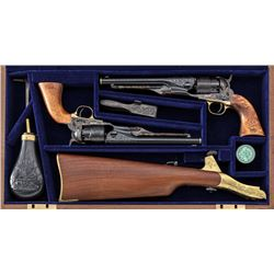 Rare Eng'd/Gold Inlaid Colt Pr. Comm. 1860 Army Re