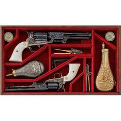 Eng'd/Gold Inlaid Colt Dragoon/1851 Navy Set