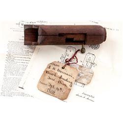 19th C. U.S. Patent Model': ''Breech-Loading Fire-Arm